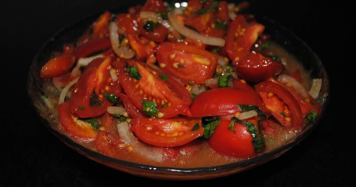 Рецепты салат из перцев и помидоров