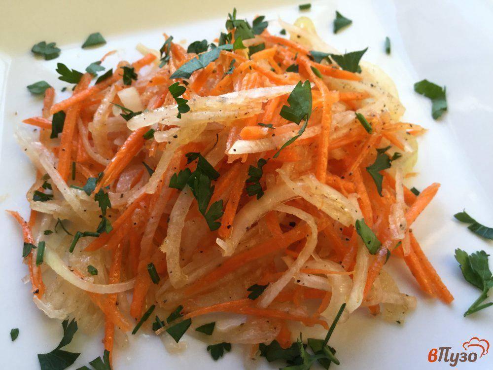 Салат из зеленой редьки с морковью - источник витаминов: рецепт с фото и видео
