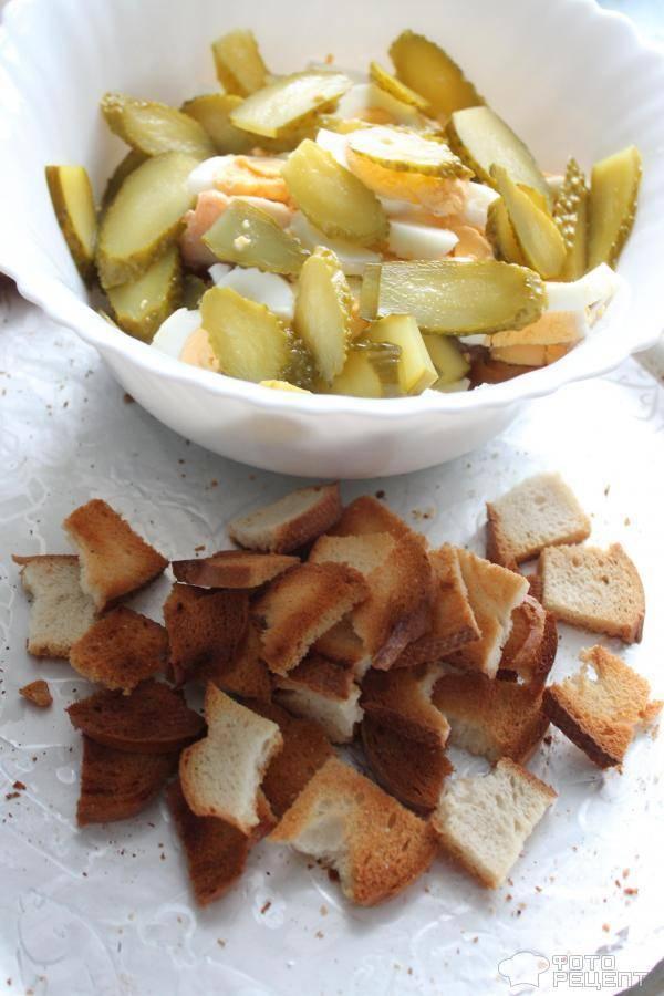 Фаршированные соленые огурцы — пошаговый рецепт с фото