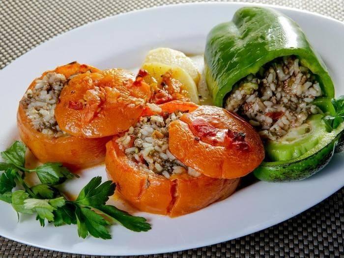 Фаршированные овощи - 1380 рецептов: закуски   foodini