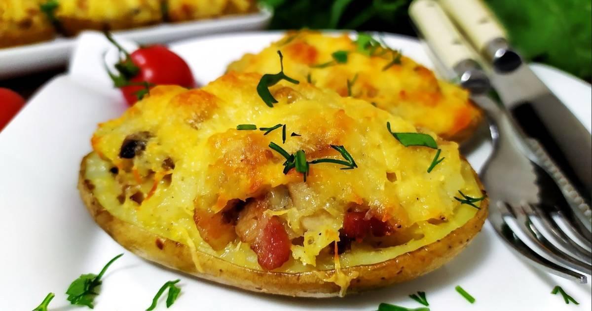Картофель с беконом - как вкусно готовить в домашних условиях с помидорами, чесноком или сыром