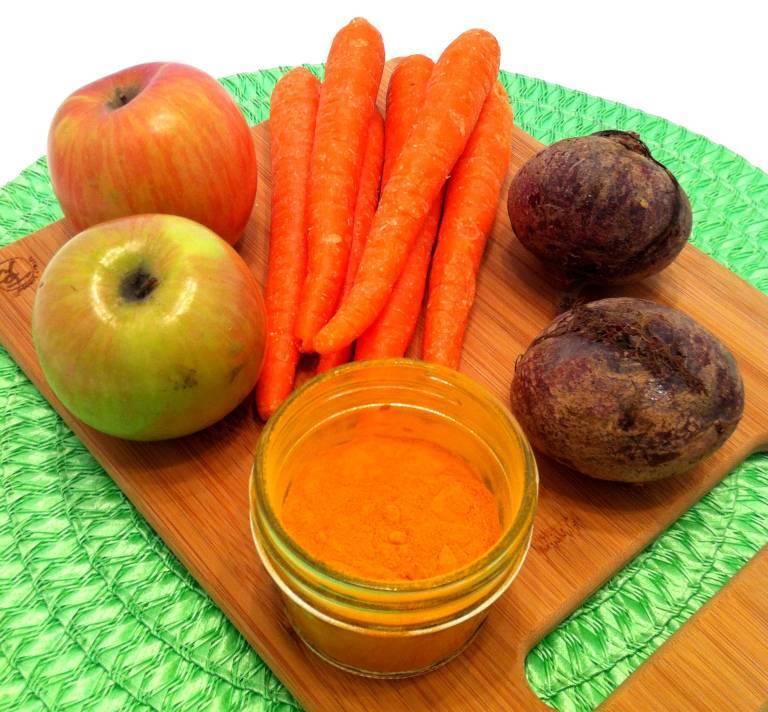 Кабачки в яблочном соке с морковью