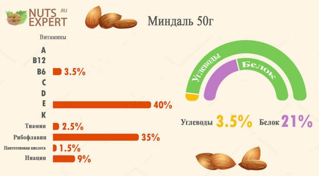 Орехи: жиры, белки, углеводы. калорийность