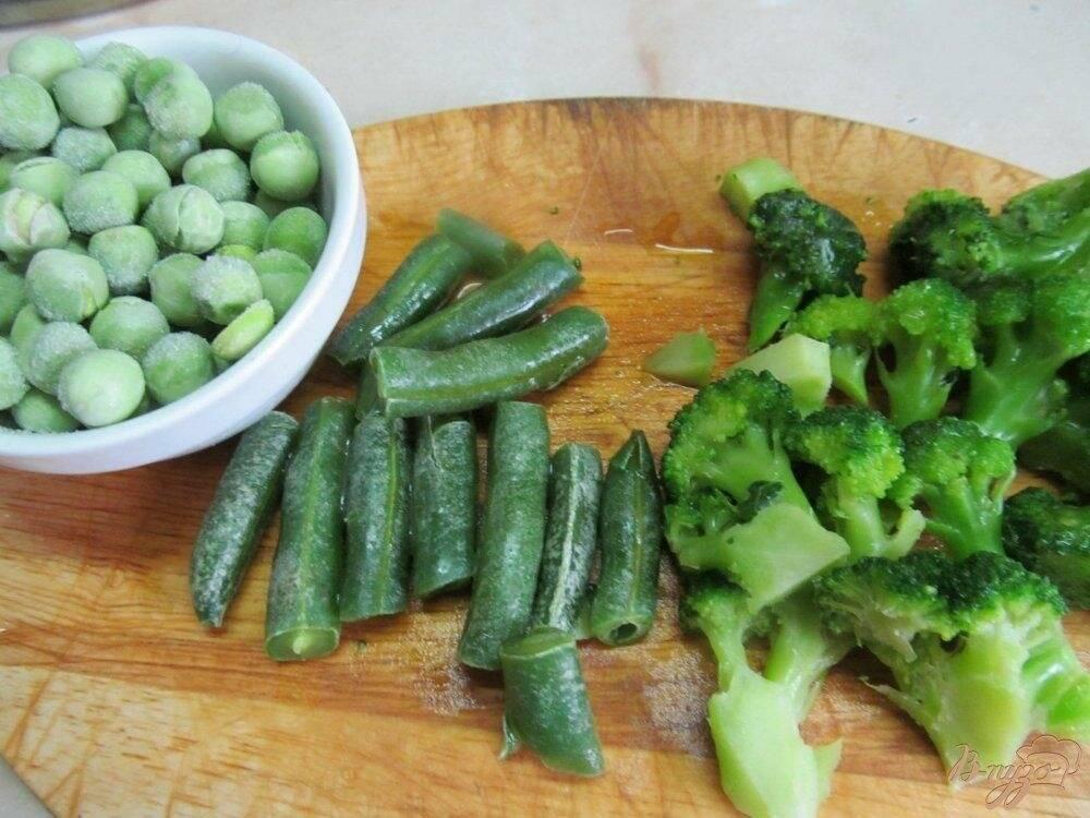 Овощное рагу из цветной капусты и зелёной фасоли - 16 пошаговых фото в рецепте