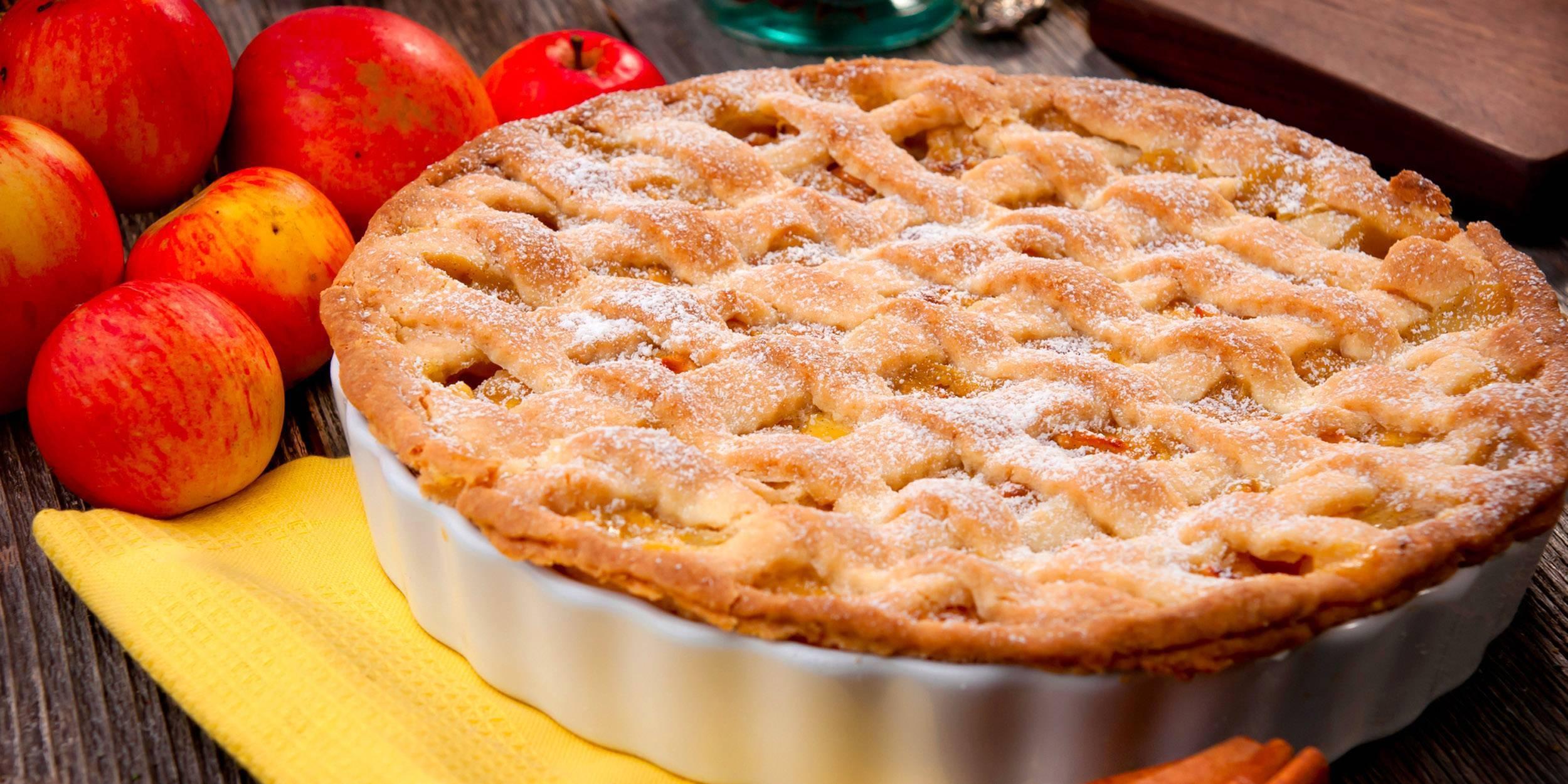 Яблочный пирог с орехами - 8 пошаговых фото в рецепте