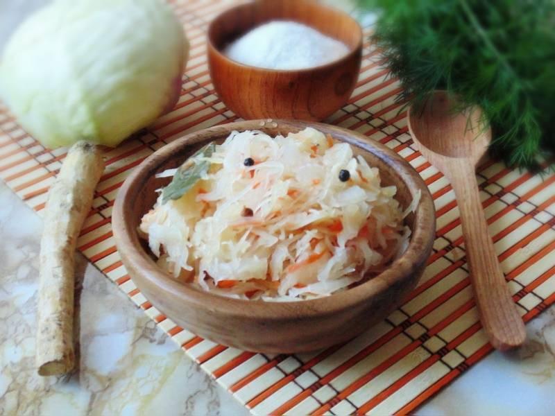 Рецепт капусты с хреном и чесноком. капуста с хреном на зиму – лучшие рецепты для кулинарной книги. капуста, маринованная с хреном и медом