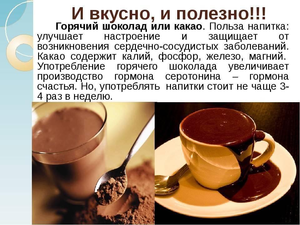 Польза и вред какао для здоровья человека