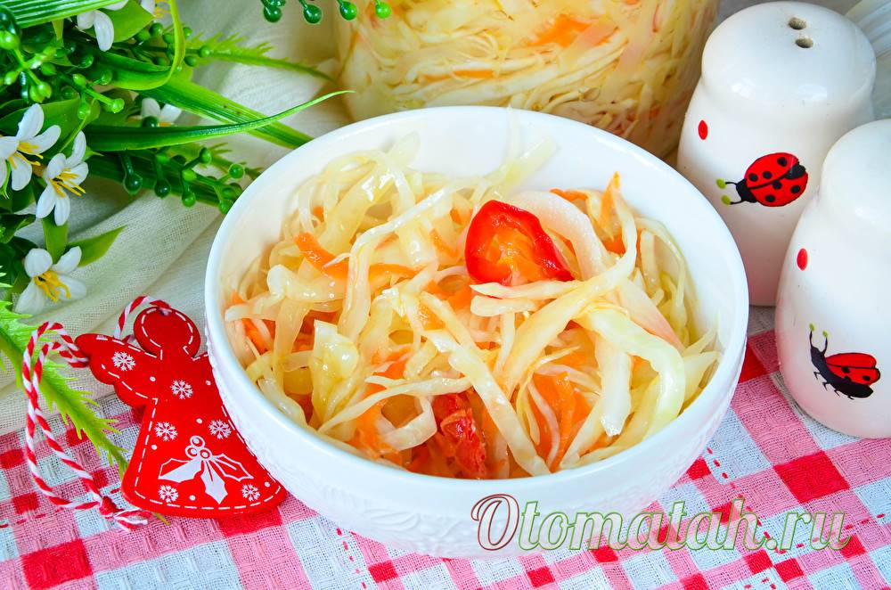 Хрустящая маринованная капуста 6 рецептов быстрого приготовления  капусты
