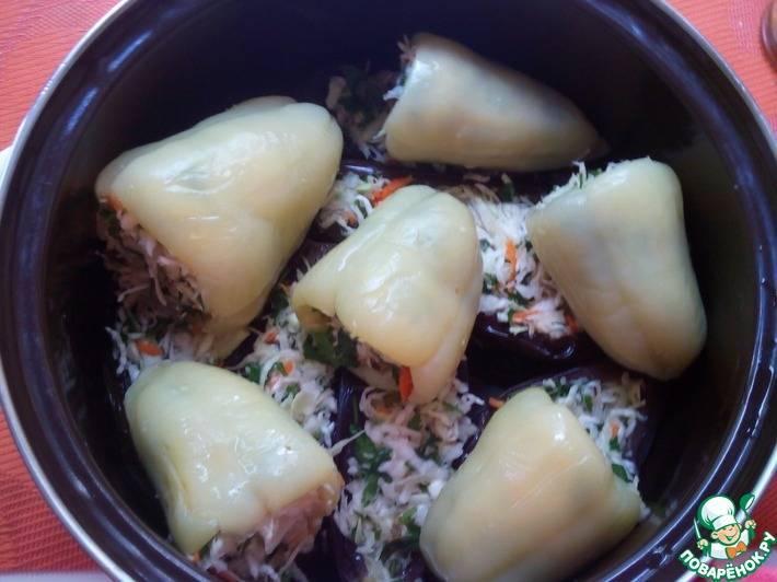 Баклажаны, фаршированные овощами на зиму – готовая закуска. лучшие рецепты баклажанов фаршированных овощами на зиму