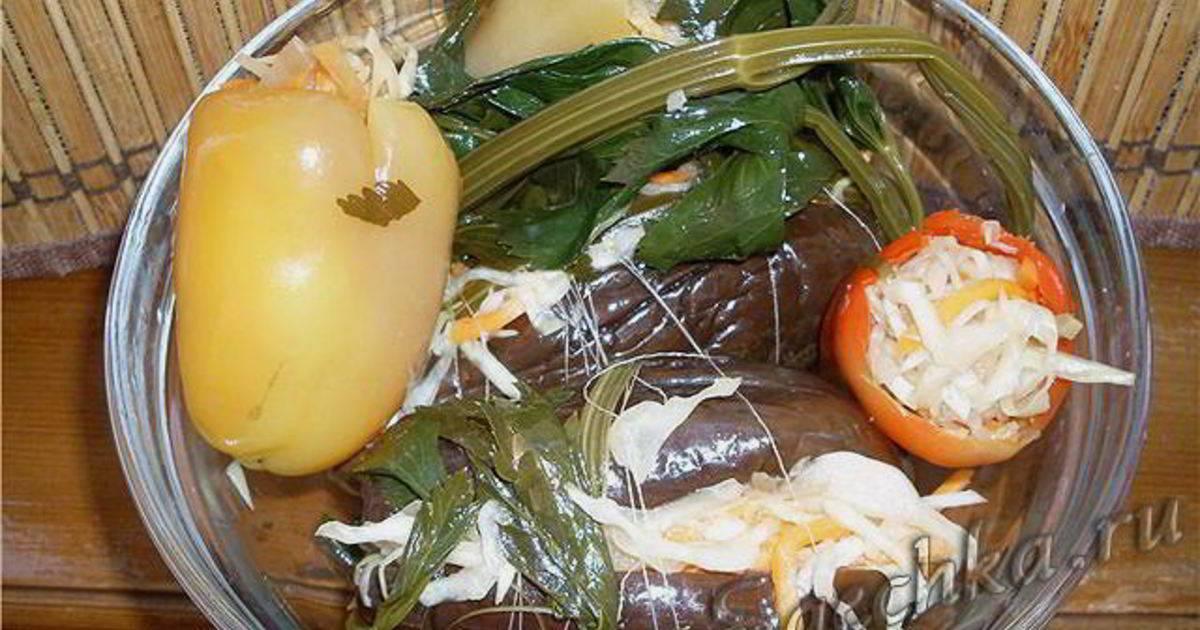 Баклажаны фаршированные квашеные — пошаговый рецепт с фото