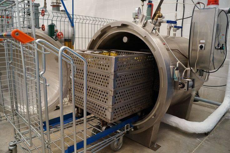 Способ охлаждения консервов в стеклянной таре после стерилизации и устройство для его осуществления —  su   1209144