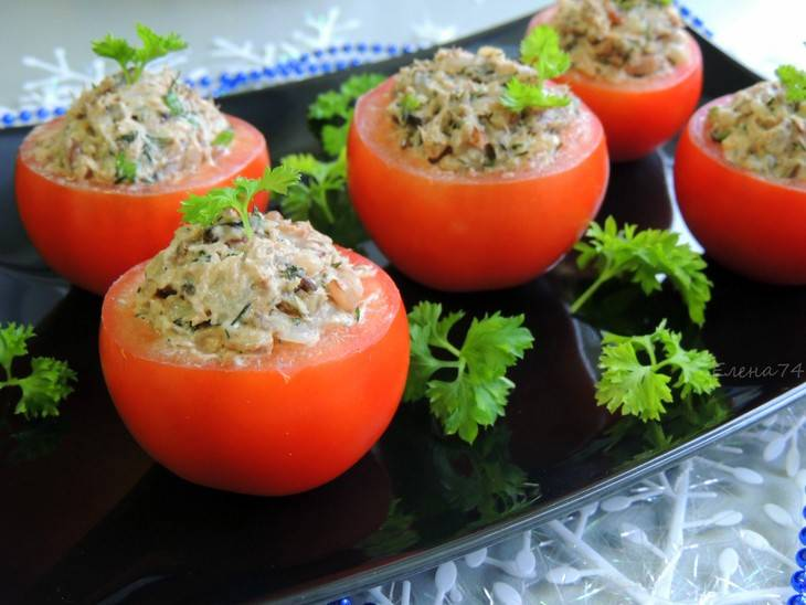 Фаршированные помидоры мясом и рисом фото