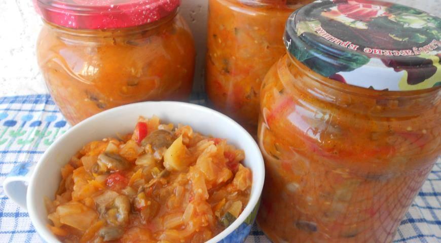 Грибная солянка с капустойна зиму — самый вкусный рецепт