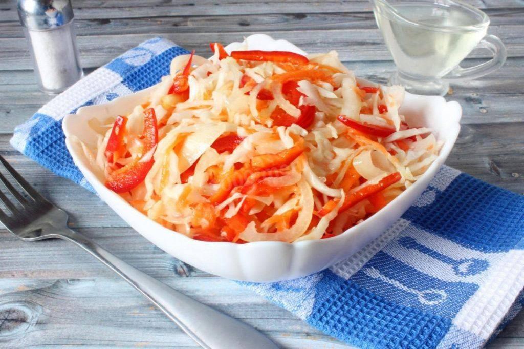 Быстрое приготовление маринованной капусты с болгарским перцем