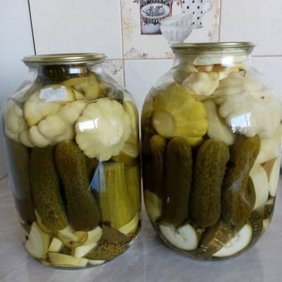 Рецепты заготовки из кабачков и патиссонов на зиму