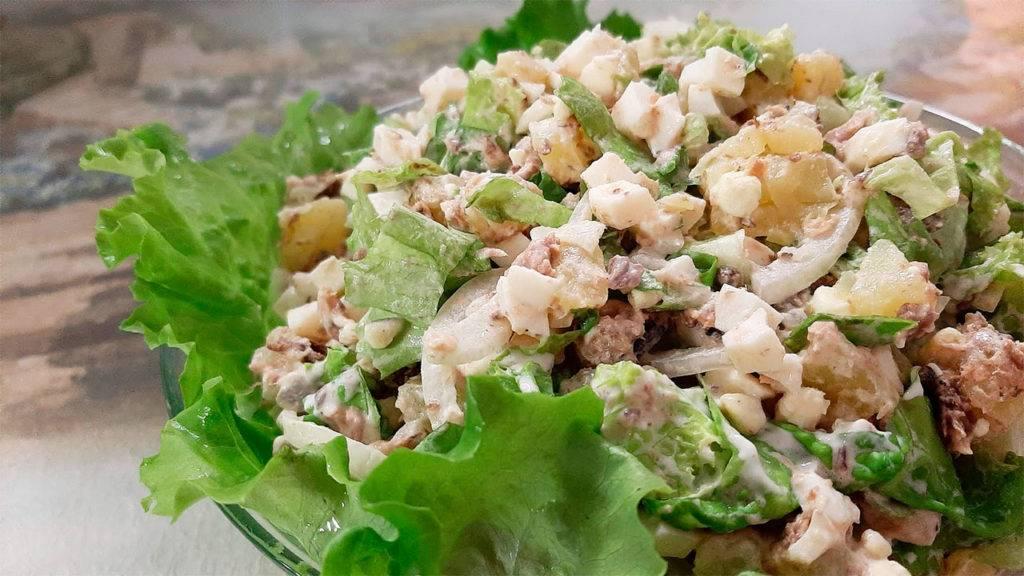 Салат с рисом и рыбными консервами – 7 рецептов приготовления