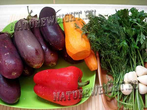 Рецепт квашеных баклажанов с морковью зеленью и чесноком на зиму
