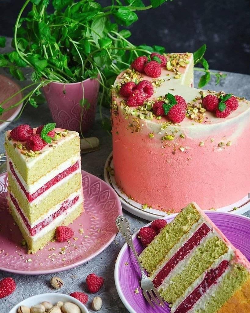 Привет) я с новым рецептом потрясного торта фисташка-малина - рецепт приготовления