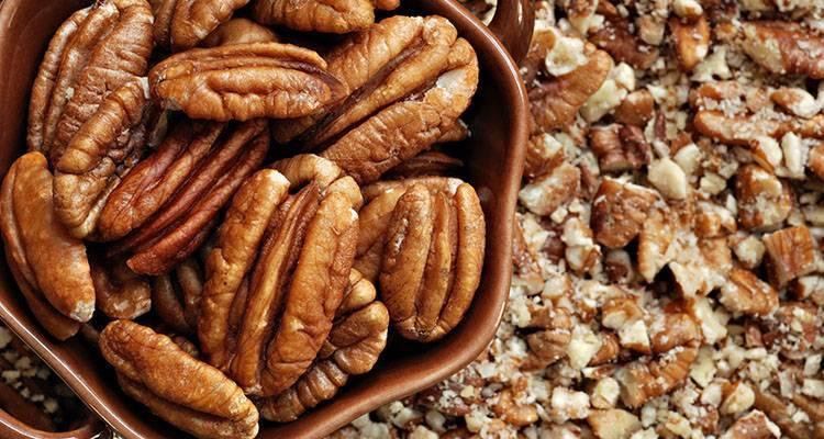 Полезные свойства ореха пекан: обзор полезных веществ в одном грамме продукта (100 фото)