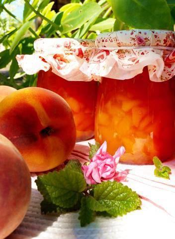 Персиковый конфитюр с корицей. большая энциклопедия консервирования