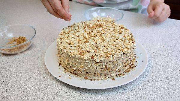 Арахисовый торт – пошаговый рецепт с фото