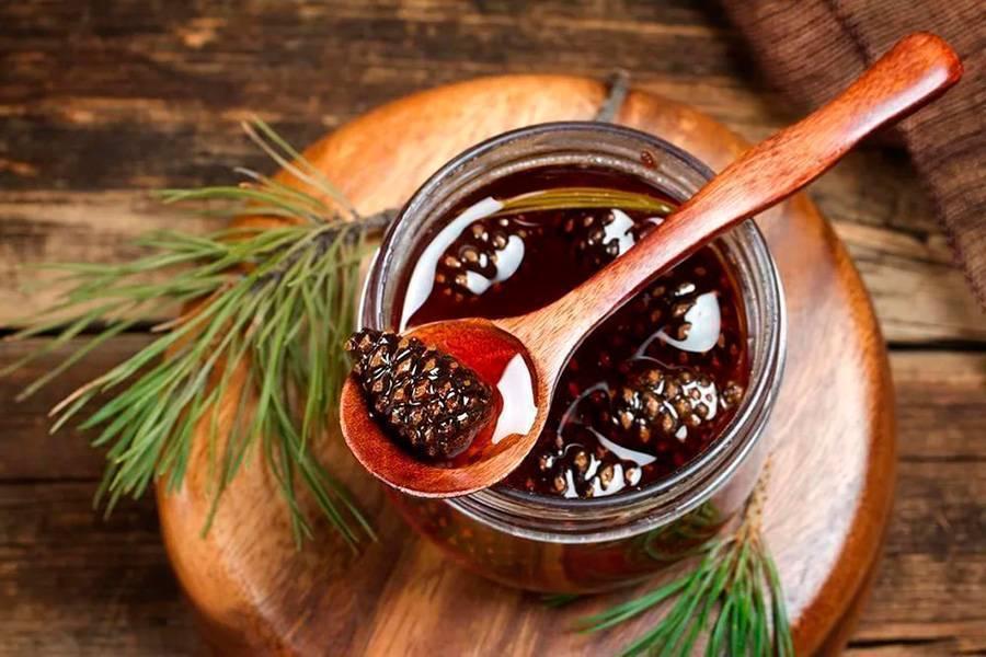 Варенье из шишек: методы применения, рецепты приготовления, полезные свойства для организма