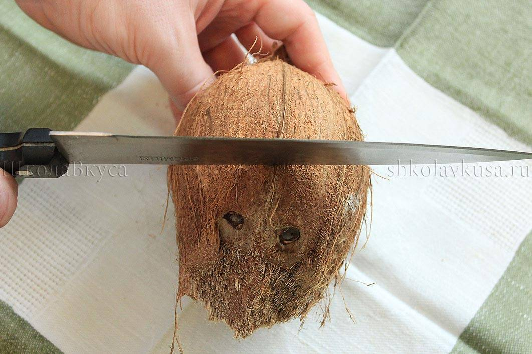 Как почистить кокос в домашних условиях — правильно