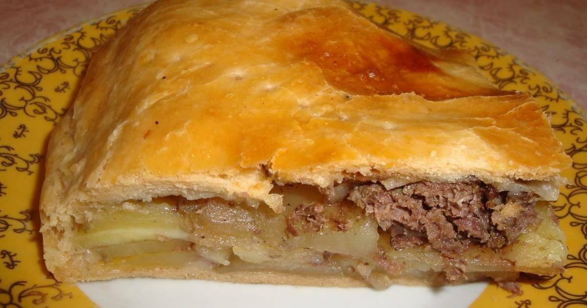 Как приготовить пирог с мясом и картошкой в духовке с фото и видео