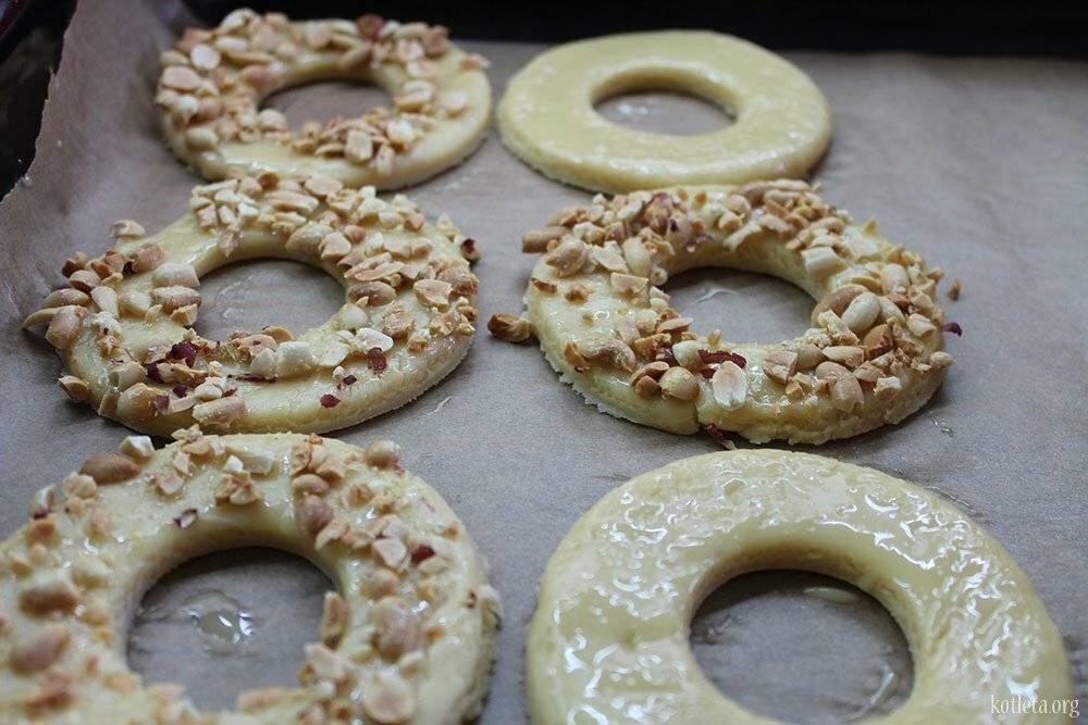 Песочные кольца с арахисом