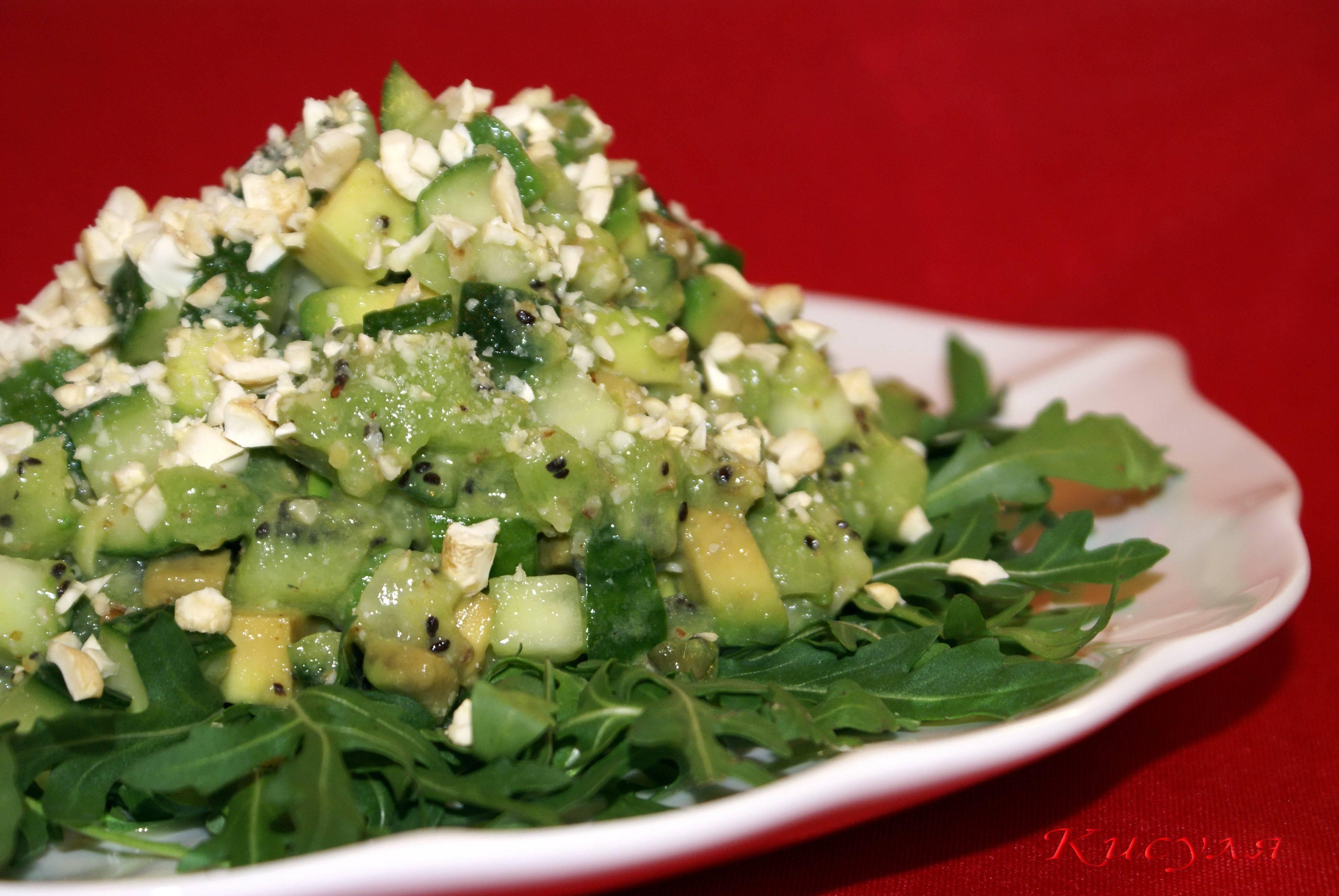 Праздничный томатный салат с авокадо и кедровыми орешками - великий повар - пошаговые фоторецепты