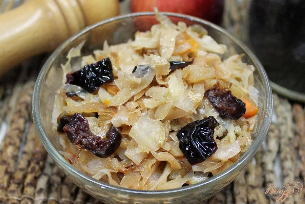 Постная тушеная капуста с черносливом - простой рецепт с фото | народные знания от кравченко анатолия