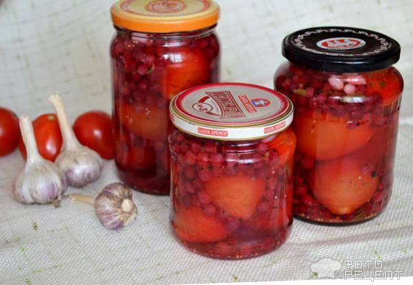 Помидоры в соке разных ягод и фруктов - рецепты на зиму