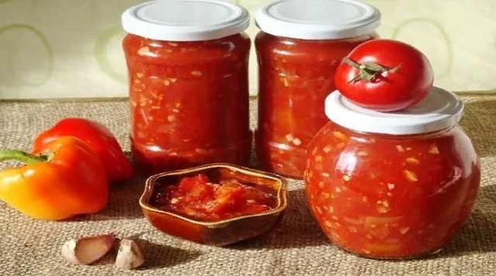 Лечо с томатной пастой на зиму