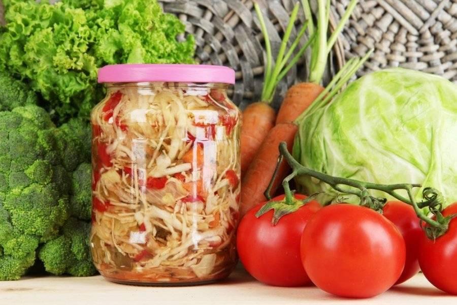 Овощной салат; кубанский; на зиму; 2 вариант (острый и неострый)