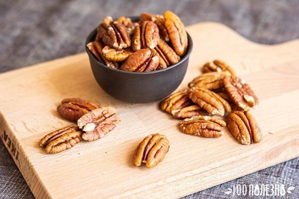 Польза и вред ореха пекан, его влияние на здоровье