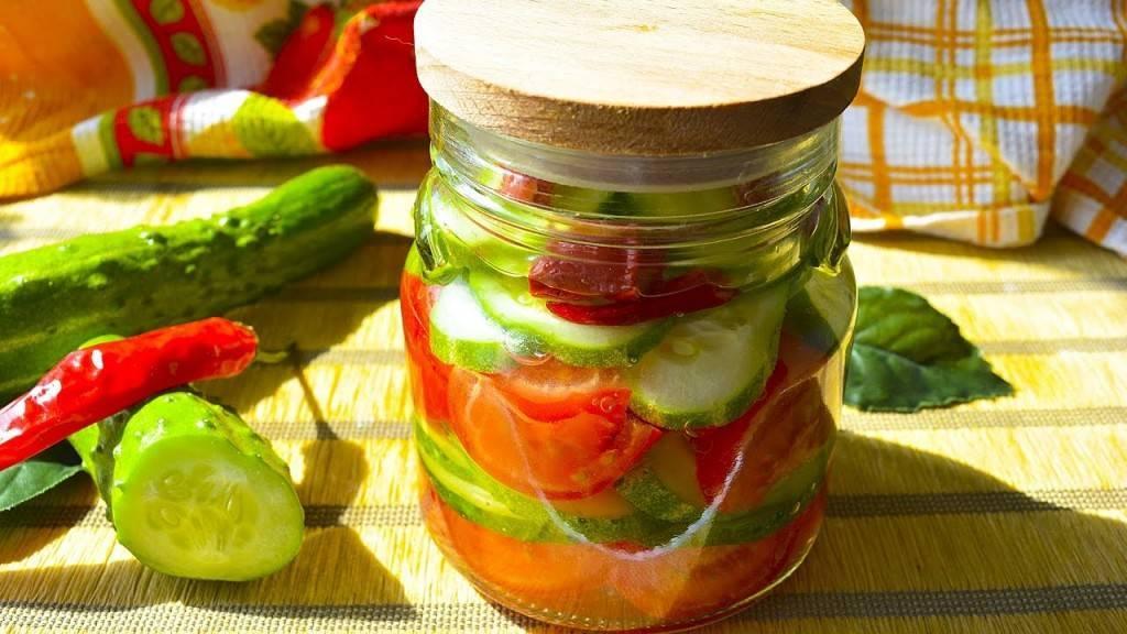 Салат из огурцов и помидоров на зиму пальчики оближешь