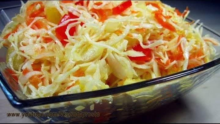 Капуста, маринованная с болгарским перцем — пошаговый рецепт с фото