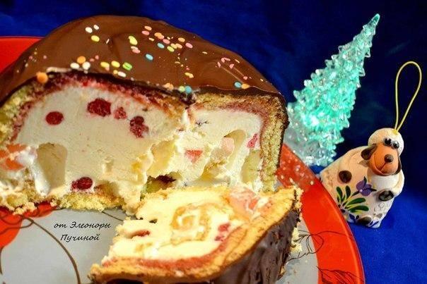 Торт-мороженое, рецепт с фото