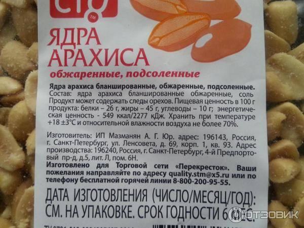 Сколько калорий в арахисе жареном (соленом, без масла)? | mnogoli.ru