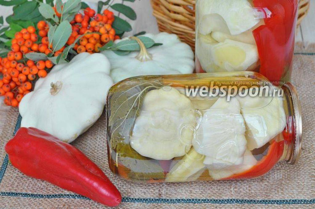 Закуска из патиссонов на зиму: рецепт с фото пошагово