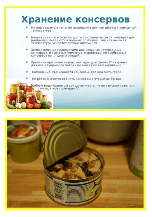 Срок хранения консервированных помидор в домашних условиях