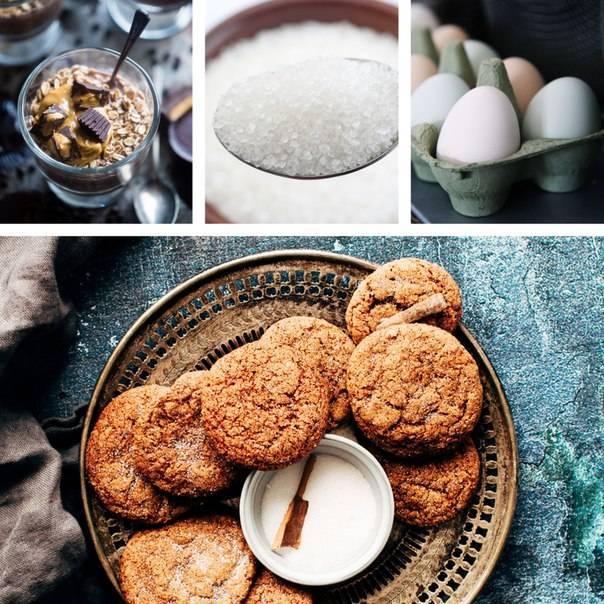 Хрустящее печенье с арахисовой пастой – кулинарный рецепт