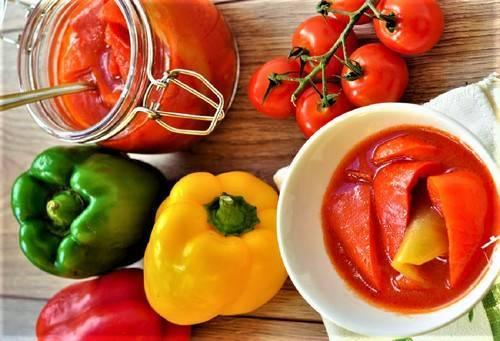 Лечо из перца и помидоров на зиму - 10 простых и самых вкусных рецептов приготовления с фото пошагово