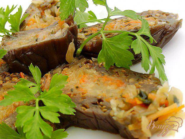 Квашеные баклажаны, фаршированные морковью и чесноком: как приготовить синенькие, начиненные овощами вкусно и просто