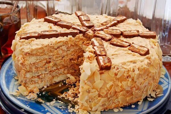 Торт с арахисовым кремом – кулинарный рецепт