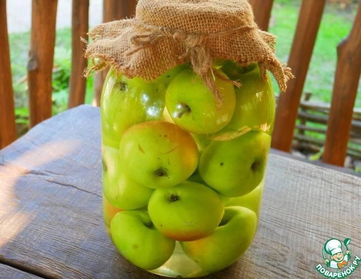 Топ-5 моченые яблоки с медом, капустой, хреном в 3х литровых банках на зиму