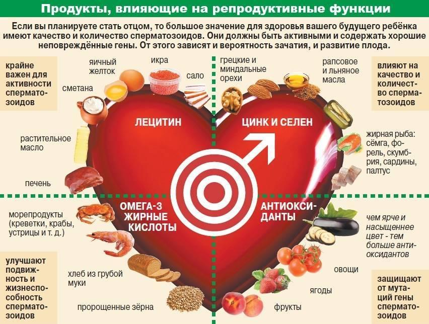 Что полезно для потенции мужчин - продукты питания для повышения эректильной функции
