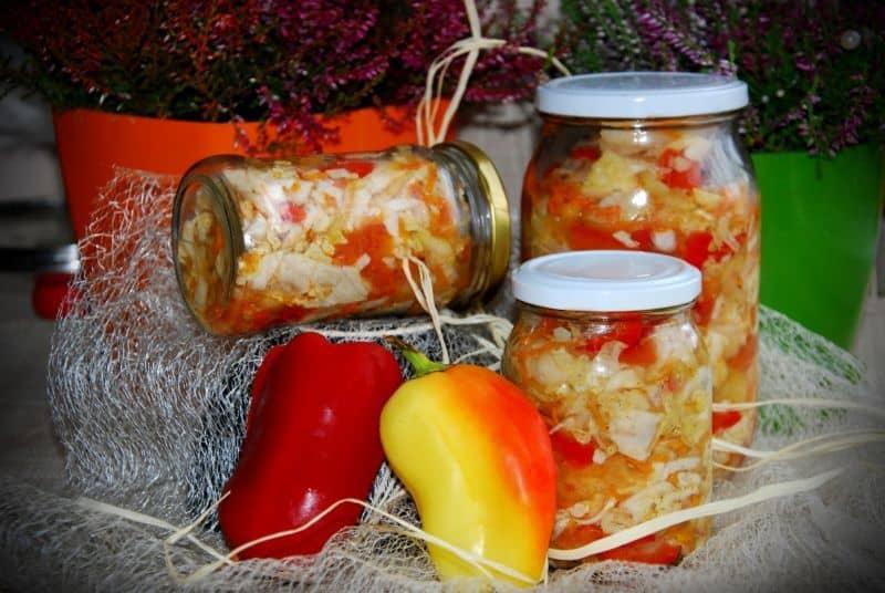 Зимний салат «кубанский» из сладкого перца. пошаговый рецепт с фото — ботаничка.ru