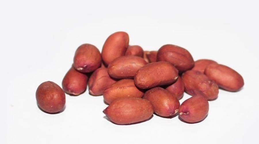Калорийность арахиса жареного соленого