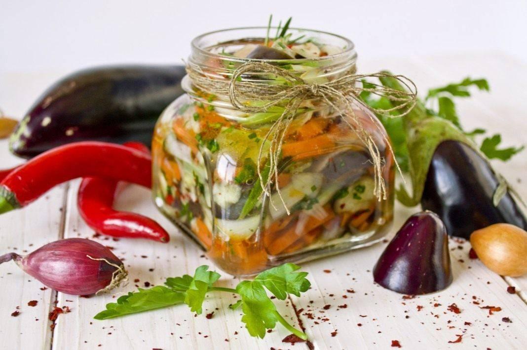Салат баклажаны с фасолью на зиму